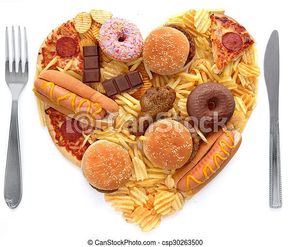 Unhealthy meal concept - csp30263500