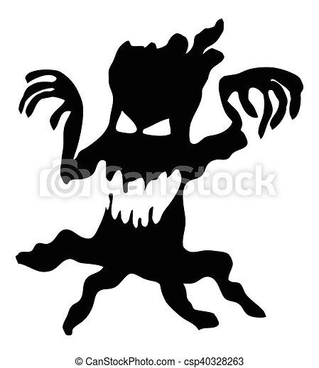 Unheimlicher , monster, baum, symbol, halloween, gruselig ...