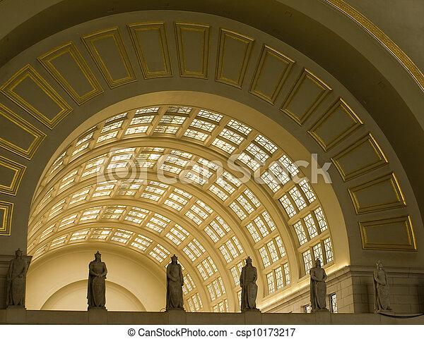 união, c.c. washington, estação, interior, archways - csp10173217