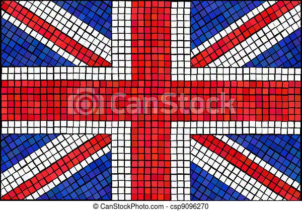 união jack mosaico feito eps10 união format bandeira