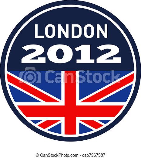 Londres 2012 Unión Británica Jack Flag - csp7367587