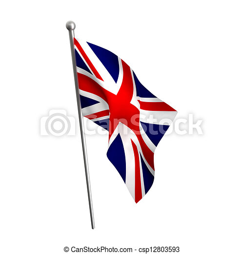 Unión jack. Bandera, inglaterra, blanco, aislado ilustración de ...