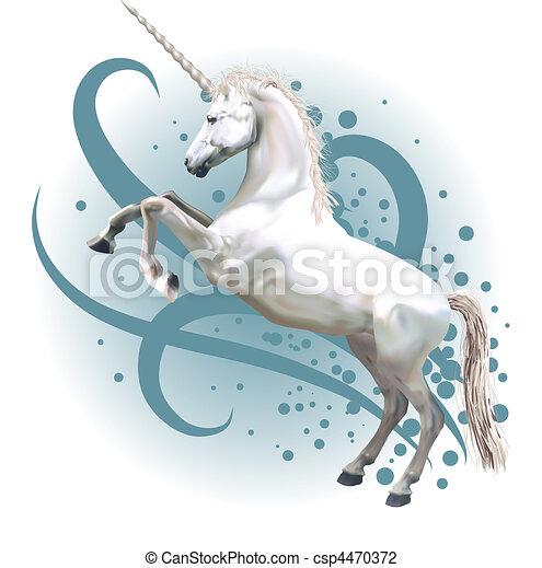 unicorn illustration - csp4470372