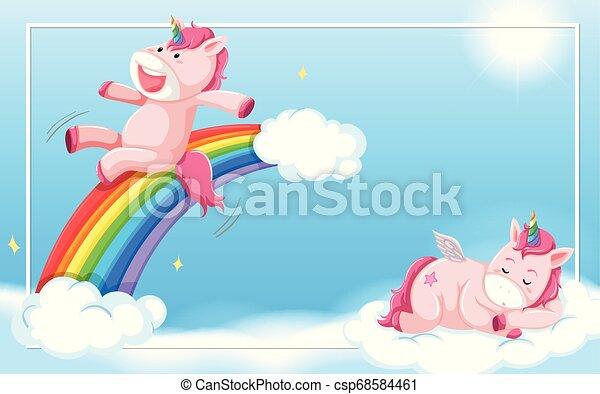 Unicorn on the sky - csp68584461
