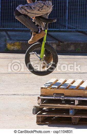 Unicycle Stunt - csp1104831