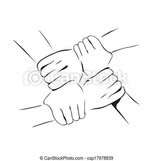 unidade, mão - csp17978839