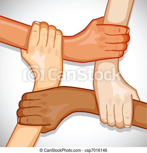 unidade, mãos - csp7016146