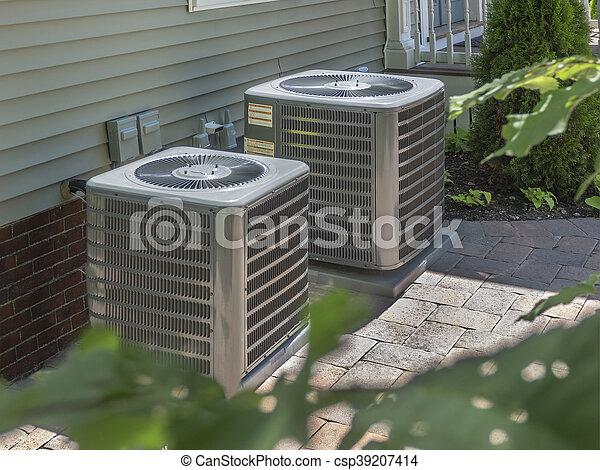 unidades, ar condicionado, aquecimento - csp39207414