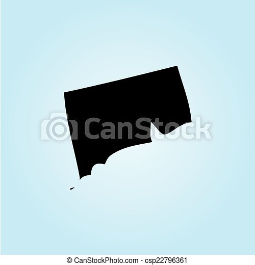 unidas, -, estado, ilustração, estados, connecticut, américa - csp22796361