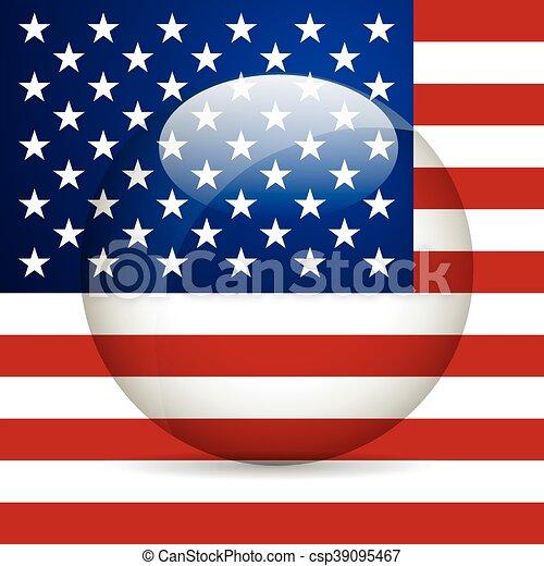 unidas, illustration., flag., estado, vetorial, américa - csp39095467