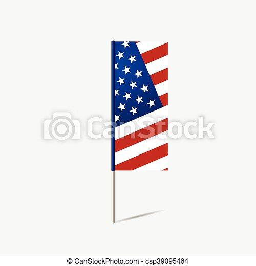 unidas, illustration., flag., estado, vetorial, américa - csp39095484