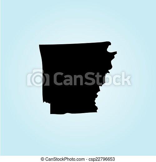 unidas, -, ilustração, estados, estado, arkansas, américa - csp22796653