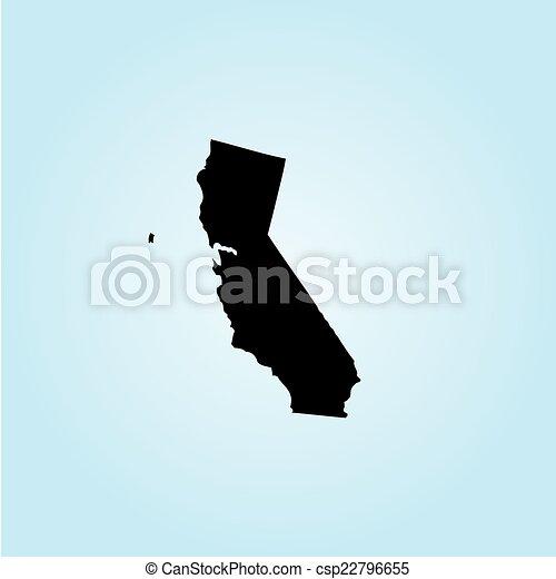 unidas, -, ilustração, estados, estado, califórnia, américa - csp22796655