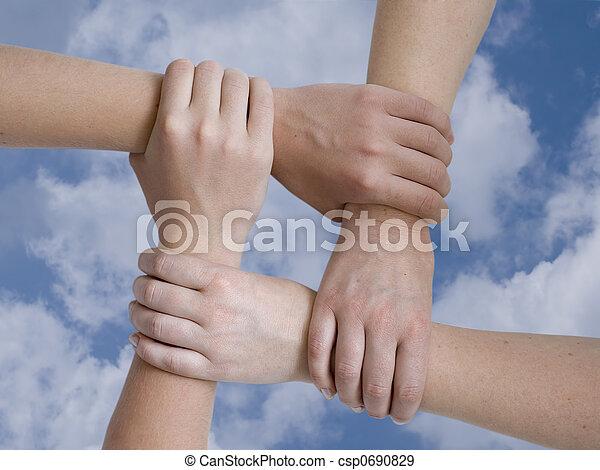 unidas, mãos - csp0690829