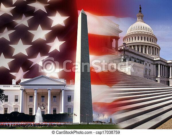 unidas, washington, -, dc, estados, américa - csp17038759