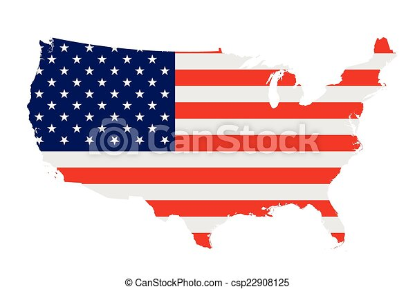 La bandera de Estados Unidos de América - csp22908125