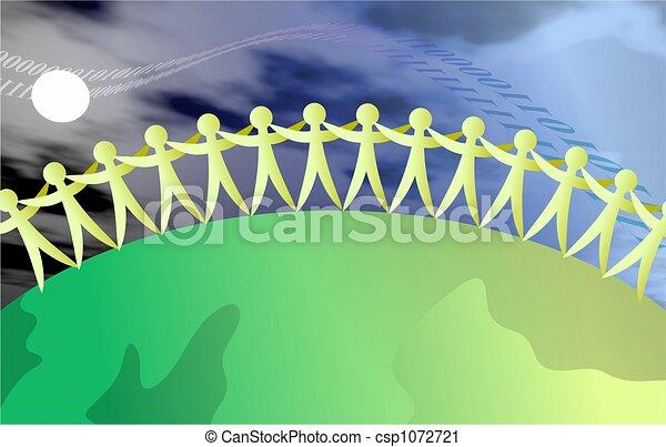 Gente unida - csp1072721