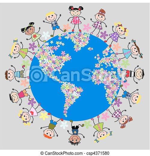 Niños unidos - csp4371580