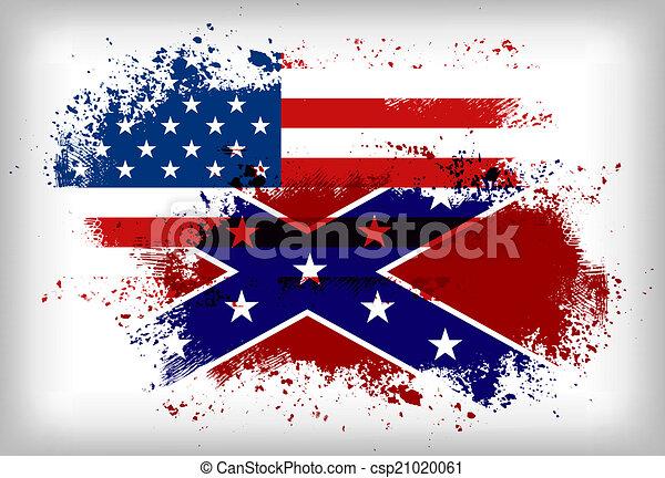 unie, flag., vlag, vs., verbonden - csp21020061