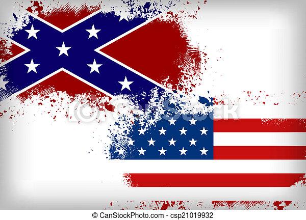 unie, flag., vlag, vs., verbonden - csp21019932