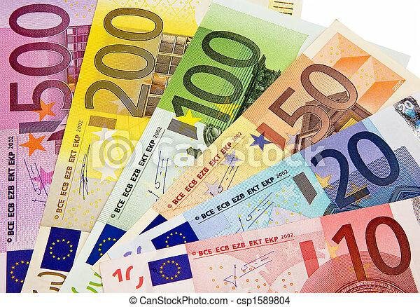 unie, valuta, europan - csp1589804