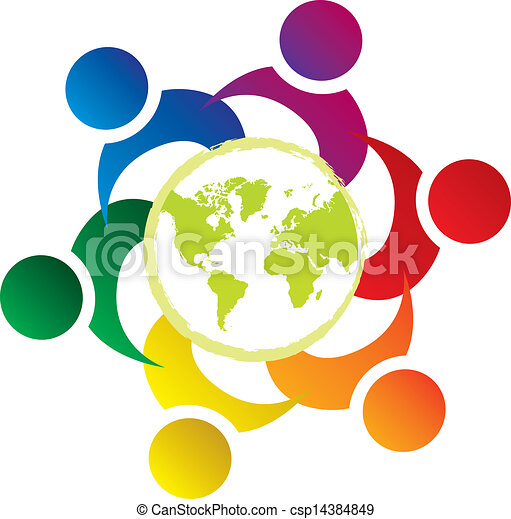 unie, wereld, vector, teamwork, mensen - csp14384849