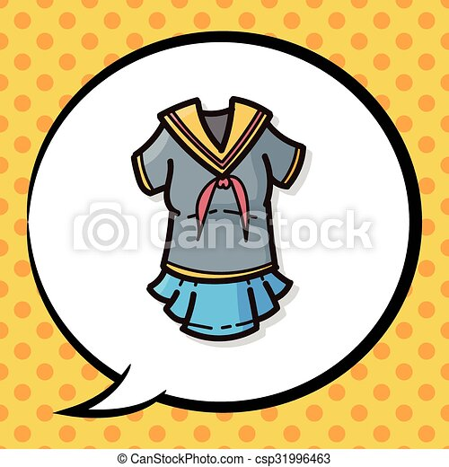 uniform color doodle clip art vector search drawings and graphics rh canstockphoto com uniform clipart school school uniform clipart black and white