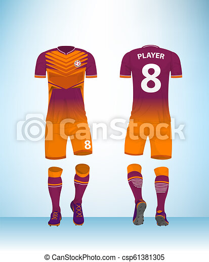 bbb6f952f Uniform football pink orange vector. Soccer jersey or football t ...
