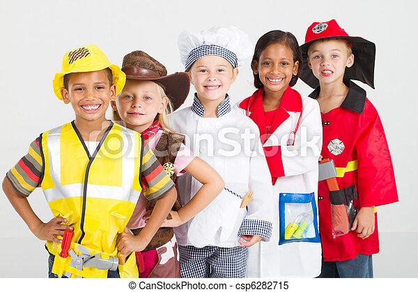 uniformes, gosses, groupe - csp6282715