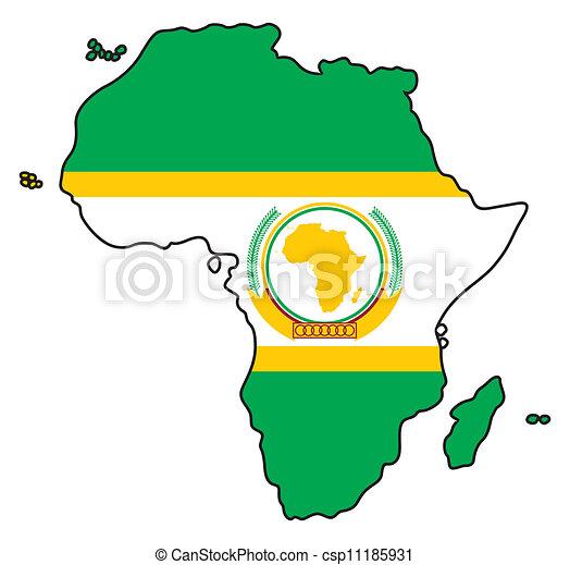 Carte Union Africaine.Union Africaine