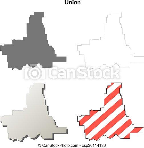 Union County Oregon Outline Map Set Union County Oregon Blank