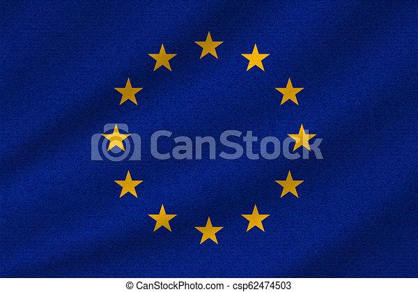 union, drapeau national, européen - csp62474503