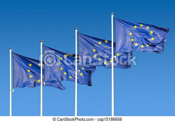union, drapeaux, européen - csp15186656