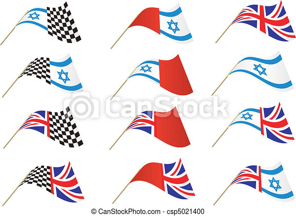 union jack and israel flag union jack star of david and vector rh canstockphoto com Egypt Flag Clip Art Egypt Flag Clip Art