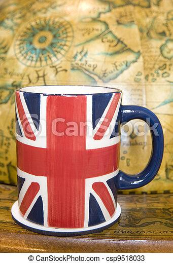Union jack cup of tea - csp9518033