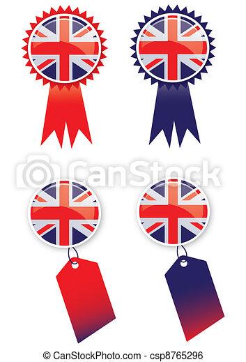 Union Jack Tags - csp8765296