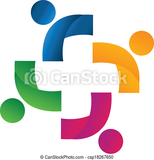 union, partenaires, équipe, logo - csp18267650