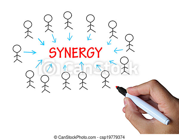 union, synergie, collaboration, whiteboard, moyens - csp19779374
