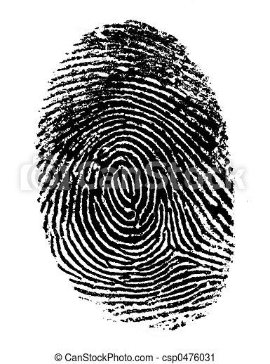 unique, 2, noir, empreinte doigt - csp0476031