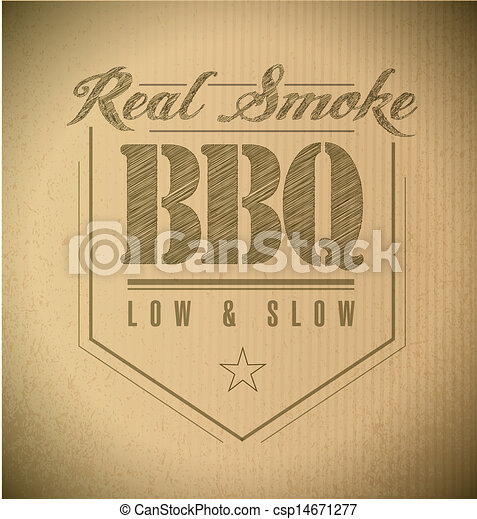 unique and Classic text Barbecue Stamp - csp14671277
