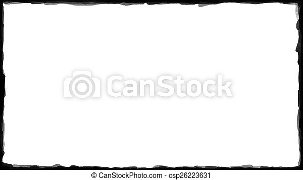 unique black border on white csp26223631