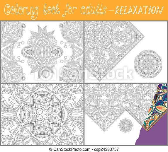 unique coloring book for adults - csp24333757