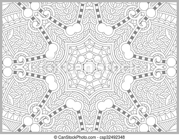 Unique coloring book page for adults - flower paisley design, joy to ...