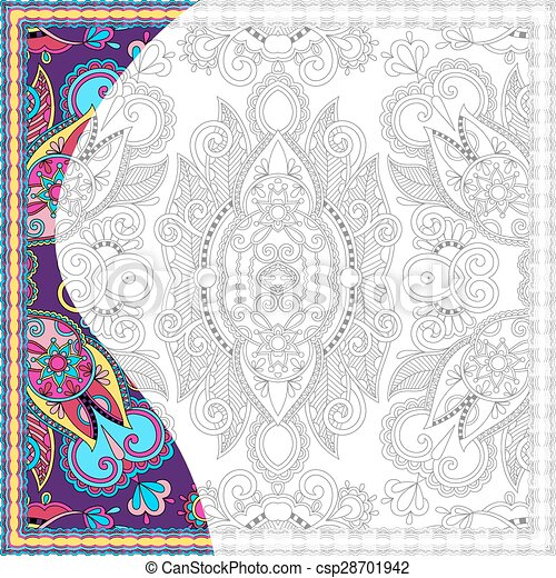 unique coloring book square page for adults - csp28701942