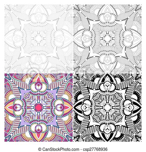 unique coloring book square page for adults - csp27768936