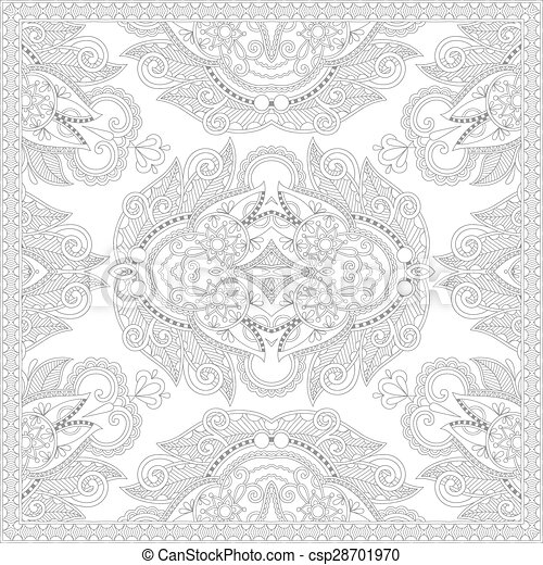 unique coloring book square page for adults - csp28701970