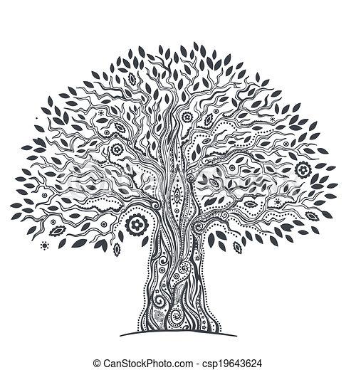 Unique ethnic tree of life - csp19643624