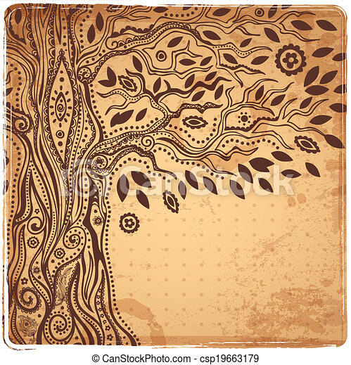 Unique ethnic tree of life - csp19663179