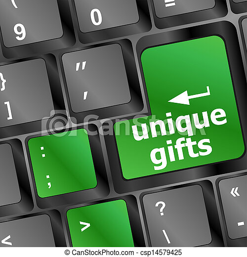 unique gifts, on the keyboard - holiday concept - csp14579425
