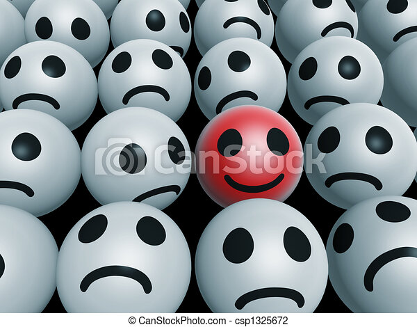 unique happy face - csp1325672